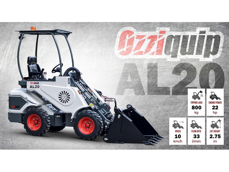ozziquip al20 articulated loader with telescopic boom 758765 001