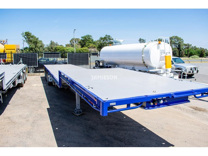 jamieson drop deck trailer - tri-axle - road train rated - 13.7m 45' 15597 003