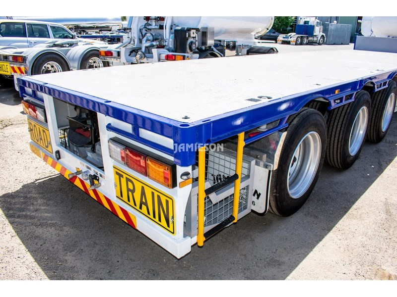 jamieson drop deck trailer - tri-axle - road train rated - 13.7m 45' 15597 006