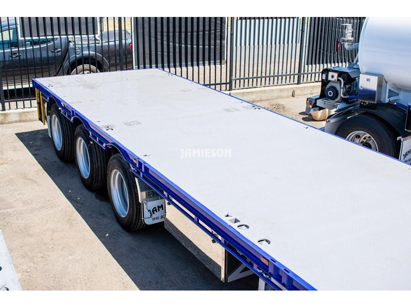jamieson drop deck trailer - tri-axle - road train rated - 13.7m 45' 15597 011