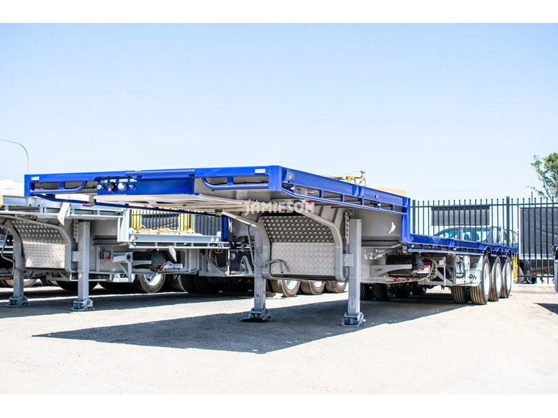 jamieson drop deck trailer - tri-axle - road train rated - 13.7m 45' 15597 013
