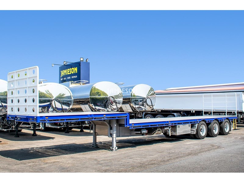 jamieson drop deck trailer - tri-axle - road train rated - 13.7m 45' 15597 018