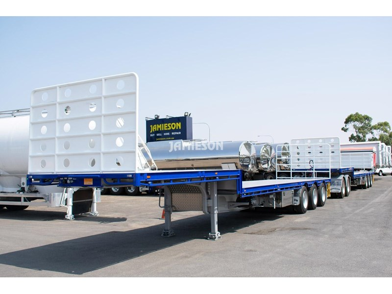 jamieson drop deck trailer - tri-axle - road train rated - 13.7m 45' 15597 019