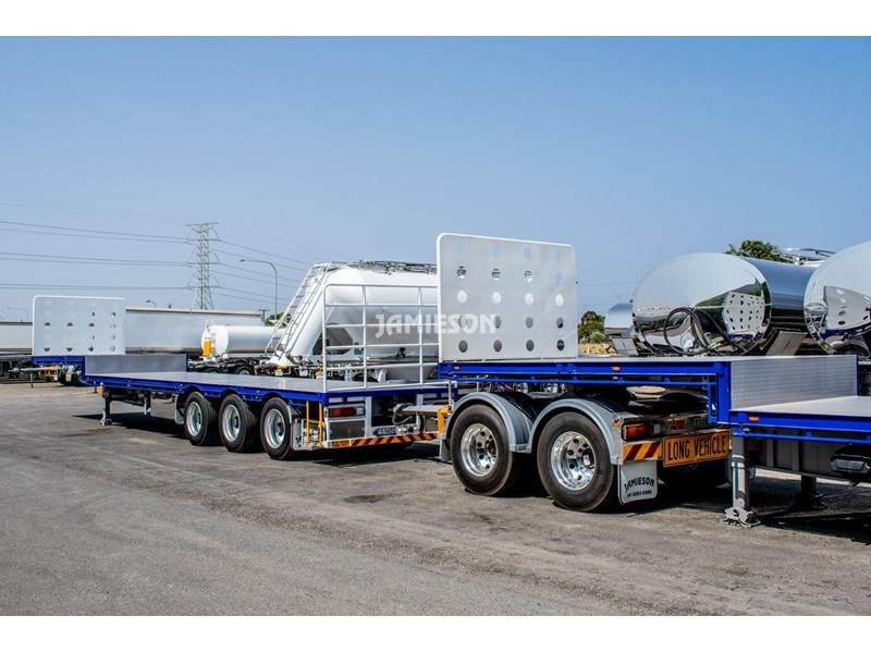 jamieson drop deck trailer - tri-axle - road train rated - 13.7m 45' 15597 020