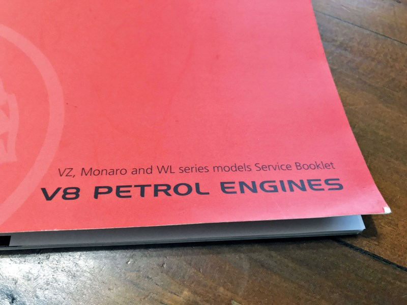monaro vz wl service booklet *wanted* 802187 002