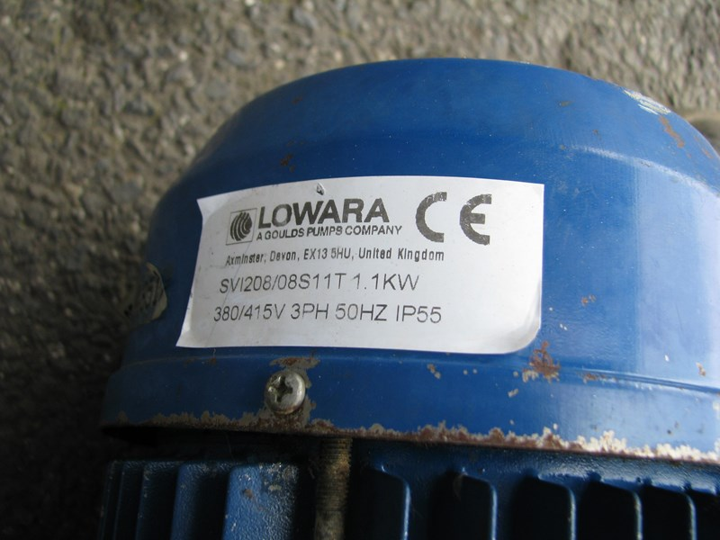 lowara tank with lowara immersive pump - 150l 802438 008