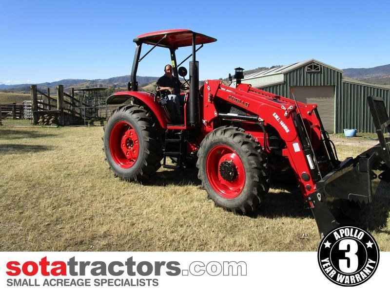 apollo 95hp tractor + 4 in 1 loader + backhoe 804495 002