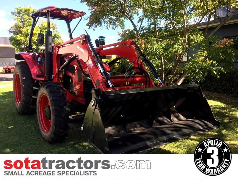 apollo 95hp tractor + 4 in 1 loader + backhoe 804495 005
