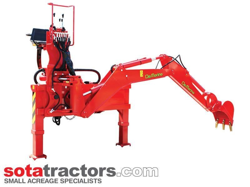 apollo 95hp tractor + 4 in 1 loader + backhoe 804495 010