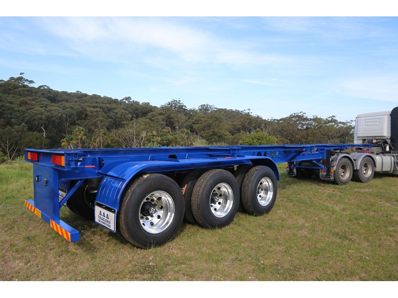aaa 2020 aaa 40' 3 way light weight 4.6t skeletal trailer-ebs 797939 003
