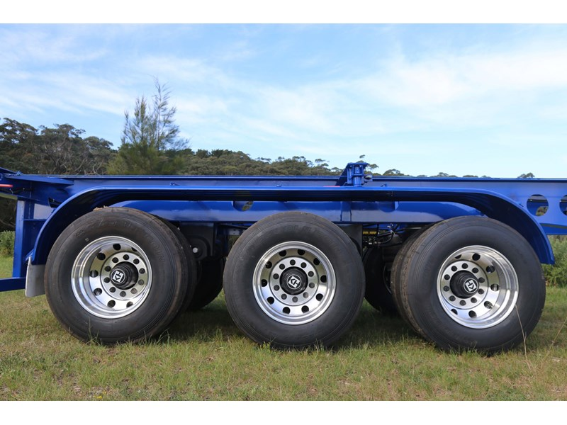 aaa 2020 aaa 40' 3 way light weight 4.6t skeletal trailer-ebs 797939 007