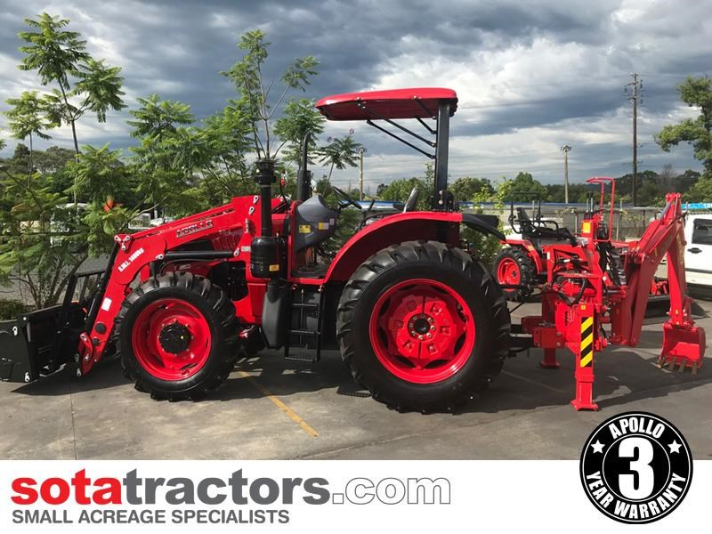 apollo 95hp tractor + 4 in 1 loader + backhoe 804495 007