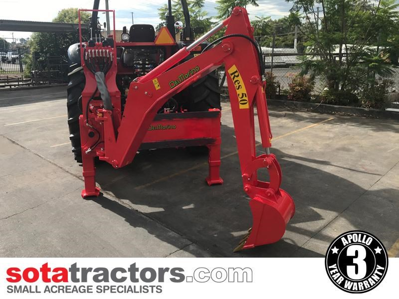 apollo 95hp tractor + 4 in 1 loader + backhoe 804495 017