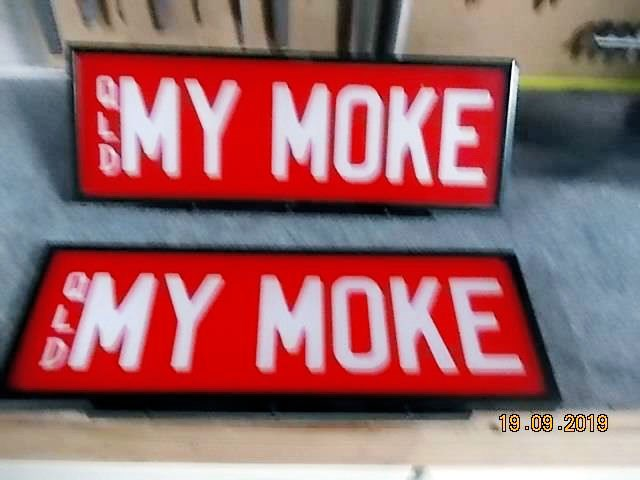 queensland mini moke number plates all 831151 001