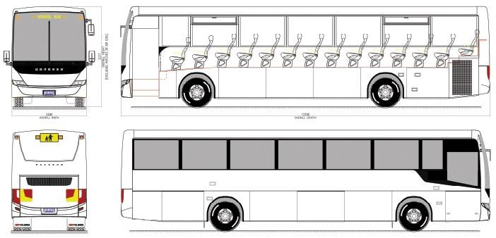 Tour Bus Parking Dimensions
