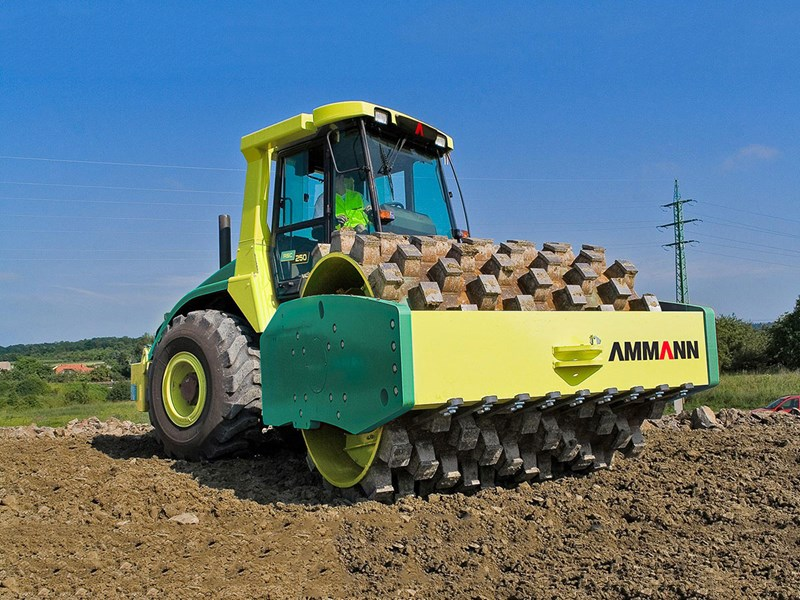 Ammann ASC 250 PD single drum padfoot compactor