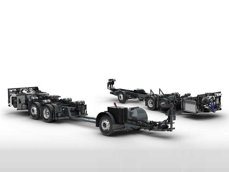 Volvo B8R bus chassis
