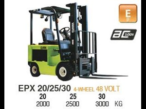 2015 CLARK EPX30 ELECTRIC FORKLIFT for sale