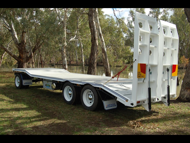 northstar transport equipment tri axle plant dog trailer 63090 015