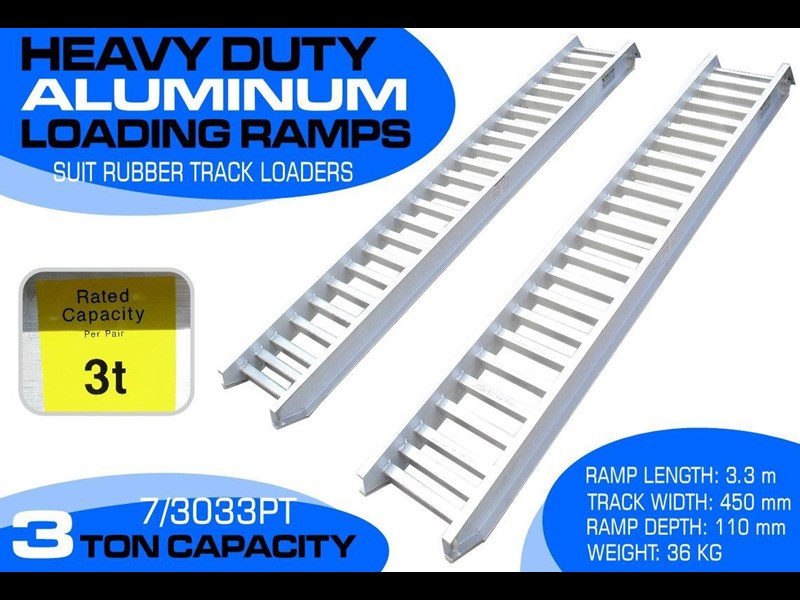 rhino 3.0 ton aluminum loading ramps [450 mm wide] 7/3033pt [attramp] 235655 001