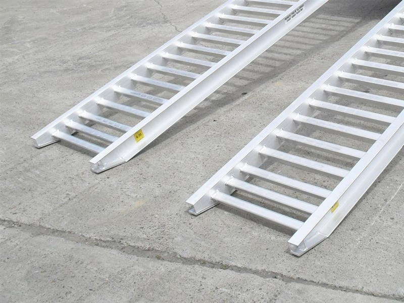 rhino 4.5 ton aluminum loading ramps [500 mm wide] 7/4536pt [attramp] 235640 009