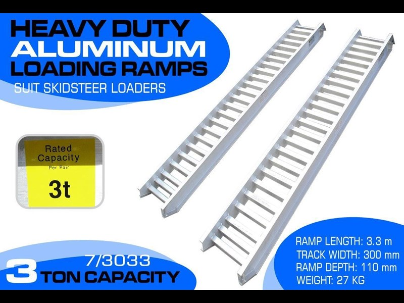 rhino 3.0 ton aluminum loading ramps [300 mm wide] 7/3033r [attramp] 235639 001