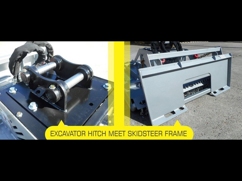 rhino 4ft / 1280mm slasher. brush cutter attachment excavator / skid steer pick up [attslash] excavator hitch / skid steer universal frame - dual mount 236251 005