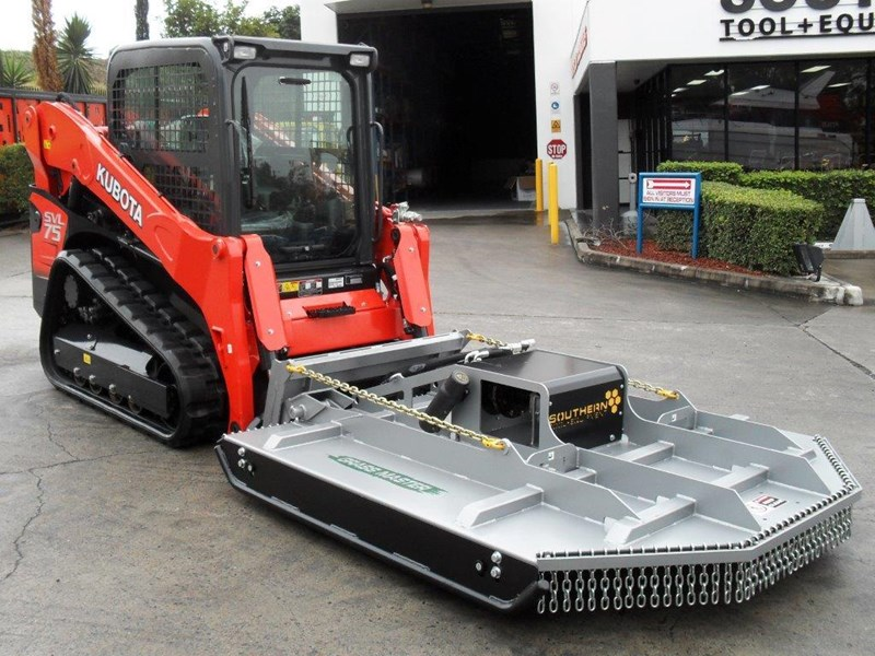 rhino 1830mm skid steer slasher attachment + kubota svl75 track loader combo [attslash] [machkubo] 236333 005