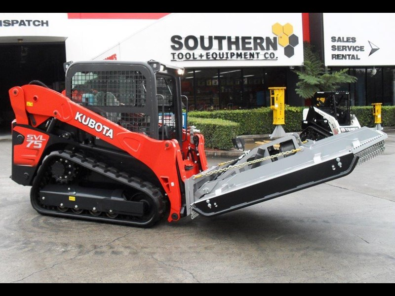 rhino 1830mm skid steer slasher attachment + kubota svl75 track loader combo [attslash] [machkubo] 236333 001
