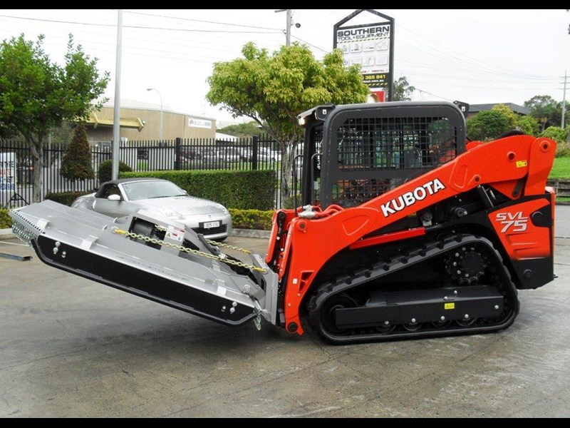 rhino 1830mm skid steer slasher attachment + kubota svl75 track loader combo [attslash] [machkubo] 236333 009
