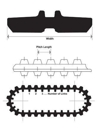 other rubber track - 400mm suit yanmar b50 excavators [pp028] [attppitem] [atttrack] 236633 023