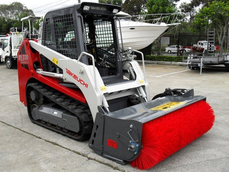 norm engineering 1800mm open mouth sweeper. 4 in 1 bucket broom suit takeuchi track loaders [attbroom] 236541 001