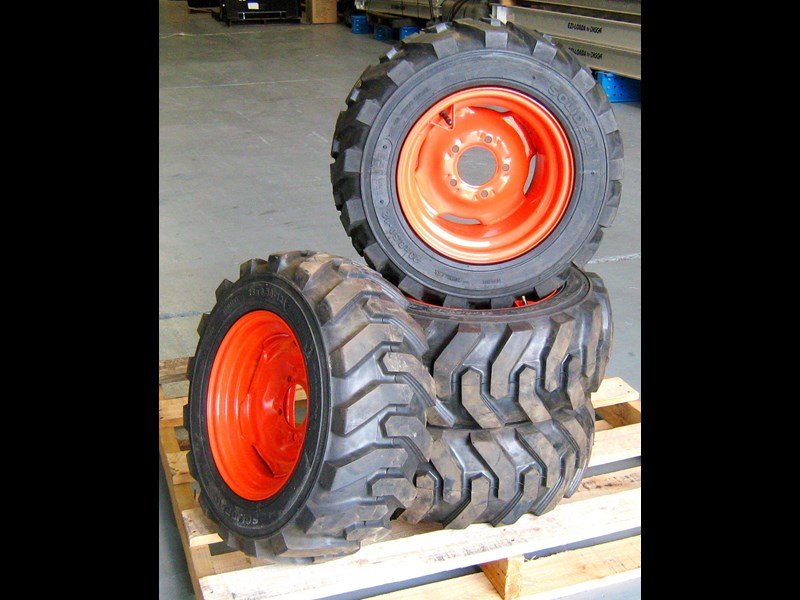 rhino spare tyre assemble 8.5-12 fit bobcat model 463 skid steer loaders [atttyre] [work ready] [ 6 ply tubeless ] 236950 003