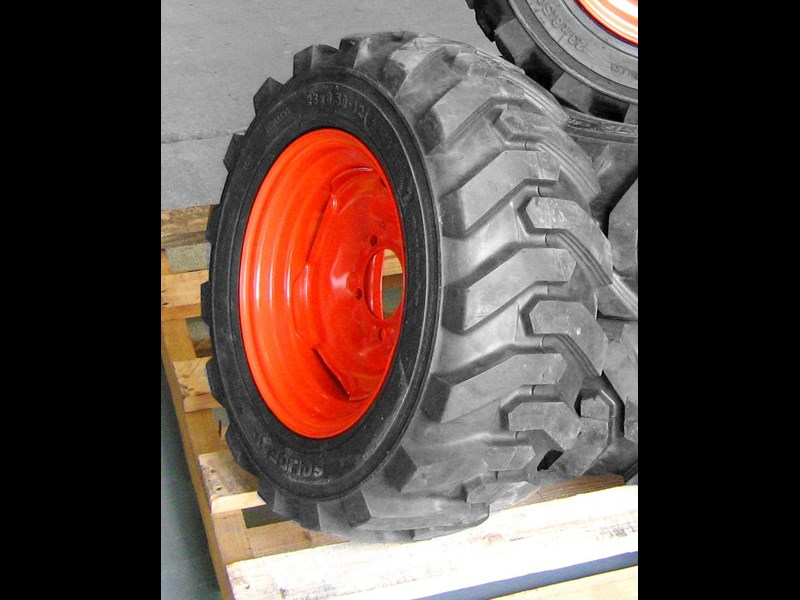 rhino spare tyre assemble 8.5-12 fit bobcat model 463 skid steer loaders [atttyre] [work ready] [ 6 ply tubeless ] 236950 007