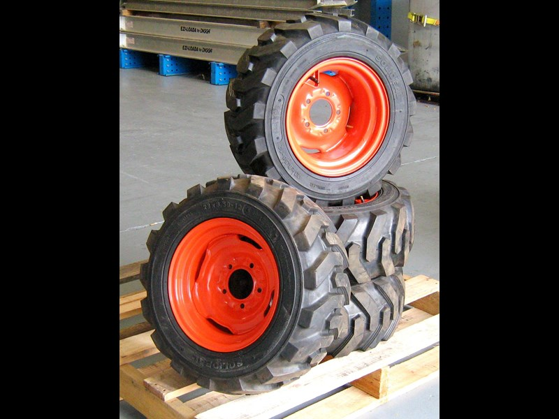 rhino spare tyre assemble 8.5-12 fit bobcat model 463 skid steer loaders [atttyre] [work ready] [ 6 ply tubeless ] 236950 011