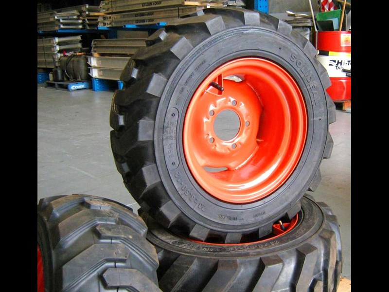 rhino 8.5-12 spare tyre assemble fit bobcat model 463 skid steer loaders [atttyre] [work ready]   [ 6 ply tubeless ] 236946 011
