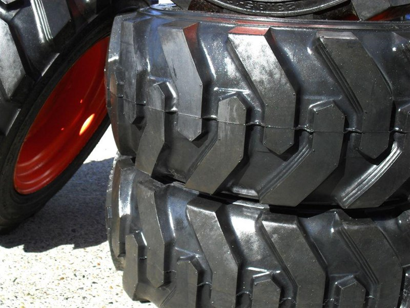 rhino rhino spare tyre assemble 8.5-12 fit bobcat model s70 skid steer loaders [atttyre] [work ready] [ 6 ply tubeless ] 237125 009