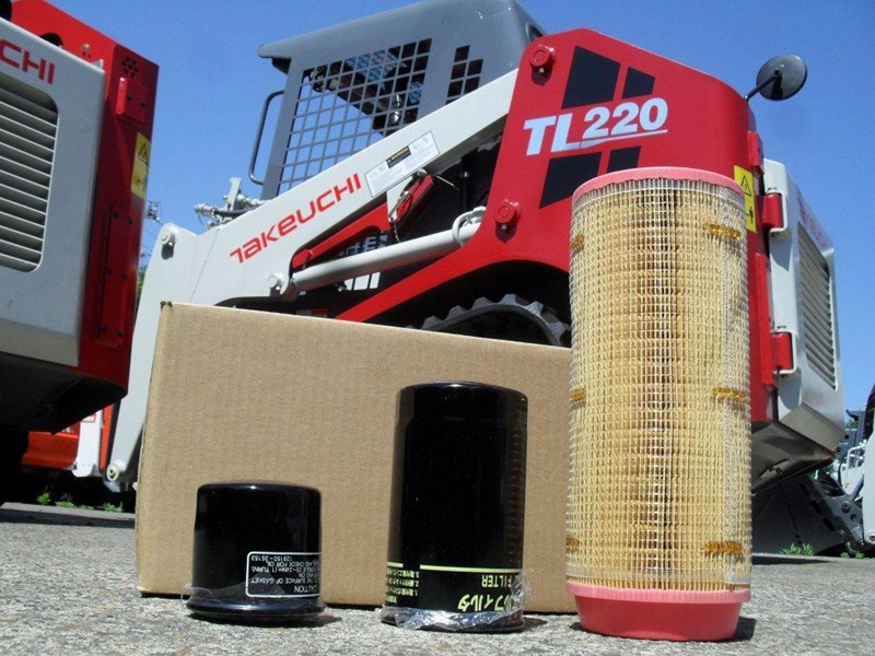 takeuchi tl220 track loaders 250hrs filter kit [genuine] [attpart] [machtake] 237180 003