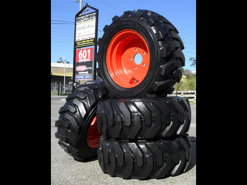 rhino spare tyre assemble - 8.5-12 fit bobcat model s70 skid steer loaders [atttyre] [work ready]   [ 6 ply tubeless ] 237126 001