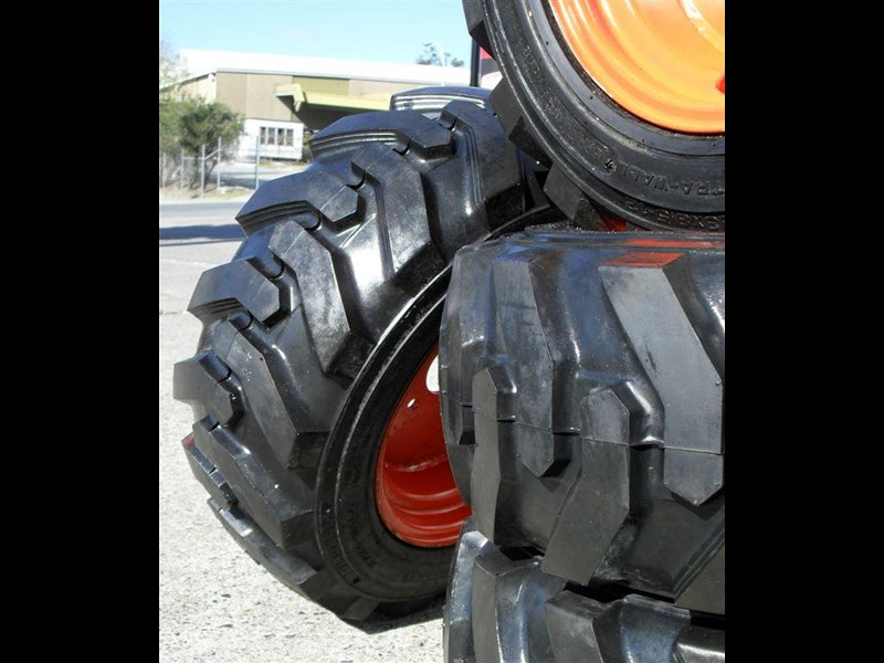 rhino spare tyre assemble - 8.5-12 fit bobcat model s70 skid steer loaders [atttyre] [work ready]   [ 6 ply tubeless ] 237126 009