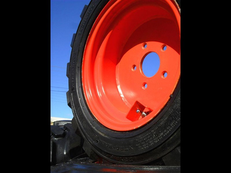 rhino spare tyre assemble - 8.5-12 fit bobcat model s70 skid steer loaders [atttyre] [work ready]   [ 6 ply tubeless ] 237126 013