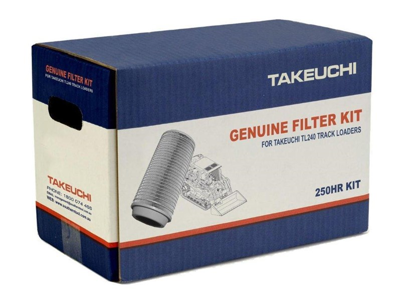 takeuchi tl240 track loaders 250hrs filter kit [genuine] [attpart] [machtake] 237182 001