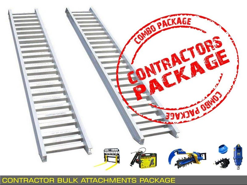 heavy duty [special deal] trencher - contractors bulk attachments package [8 items] [attcombo] 237132 011