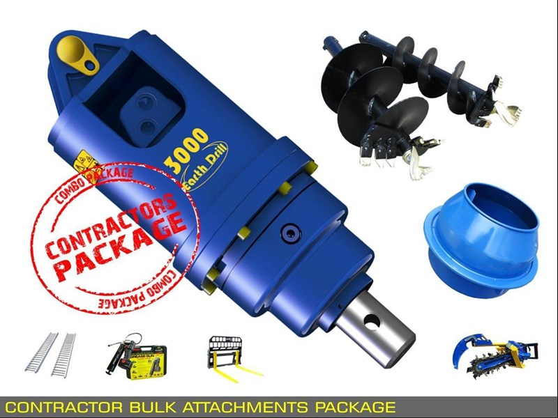 heavy duty [special deal] trencher - contractors bulk attachments package [8 items] [attcombo] 237132 013