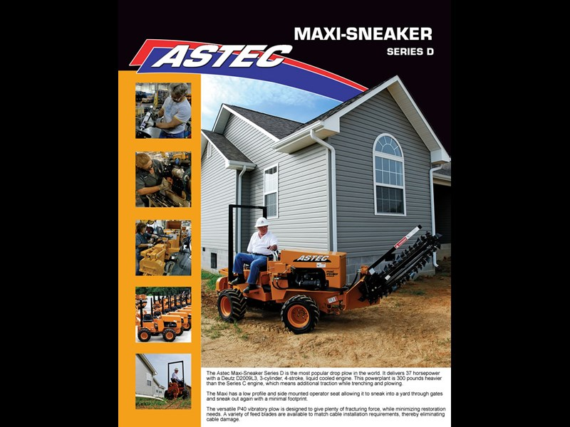 astec maxi-sneaker d (trench/plow combo) 23179 001