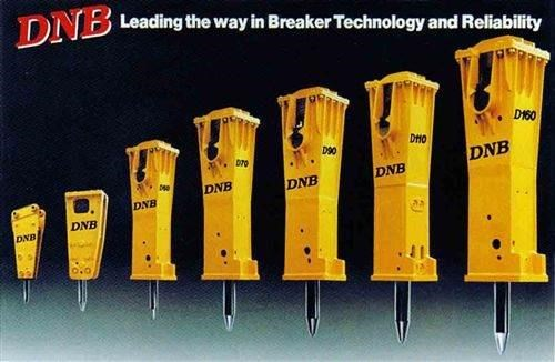 dnb hydraulic rock breakers from 1 ton to 80 ton 22853 001