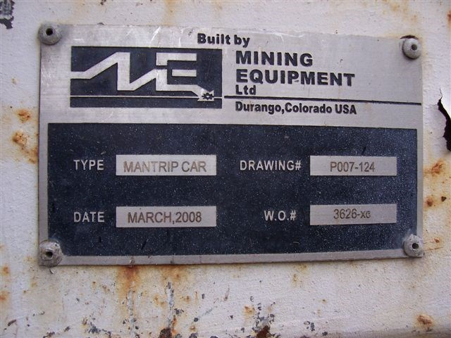 mining equipment ltd (usa) man trip car 9633 009