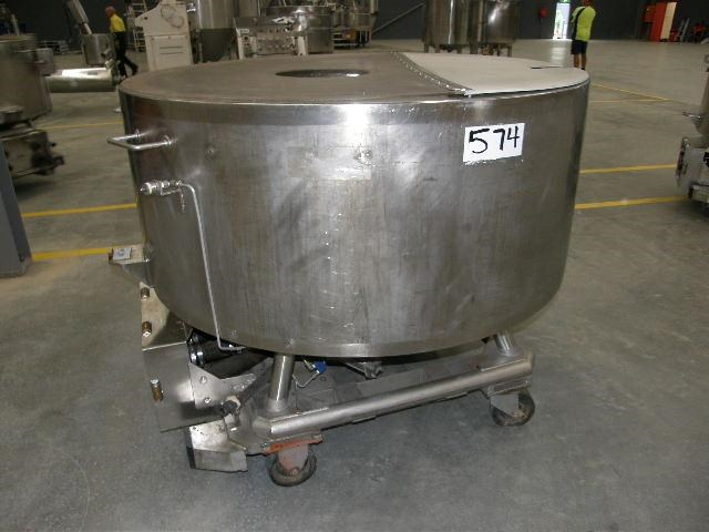 stainless steel jacketed tank 700lt 80122 001