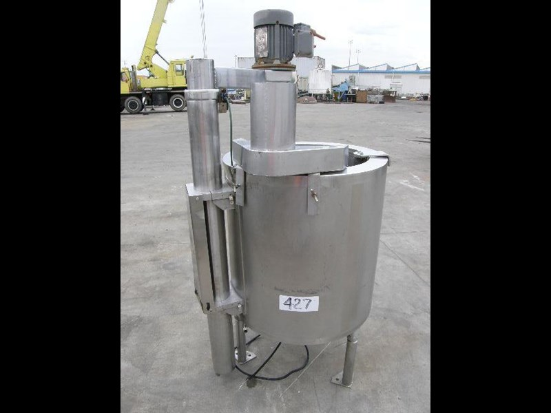 stainless steel jacketed mixing tank 120lt 80056 001