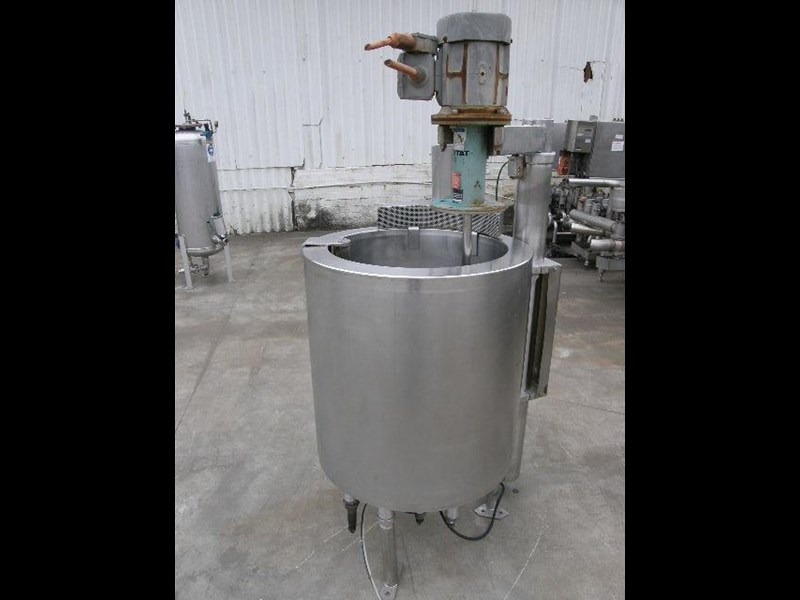 stainless steel jacketed mixing tank 120lt 80056 003